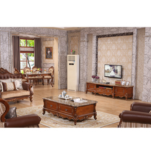Wooden tv cabinet modern designs of high end TV table and coffee table with marble top WA591
