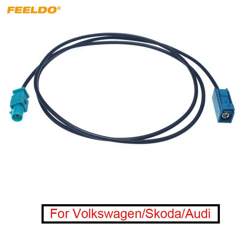 2X VW Skoda Audi Z Radio Adaptador Antena Fakra Conector de Ángulo Recto