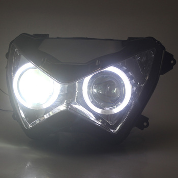 Motorcycle Headlight Fit for Kawasaki Z800 13-15 Fully Assembled Headlight Projector HID Assembly Headlight for Z250 13-16 Z300
