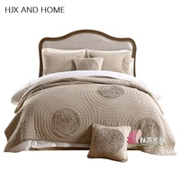 100% cotton material 1* bedspread 2 *pillowcases simple style Quilt Set Queen Quilted Bedspreads Comfortable luxury blanket