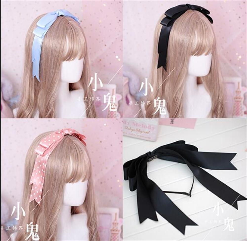 Doce arco fita hairpin acessórios de cabelo artesanal lolita cosplay femal doce headwear b551