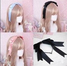 sweet  Bow Ribbon Hairpin  Handmade Hair Accessories Lolita Cosplay Femal Sweet Headwear B551
