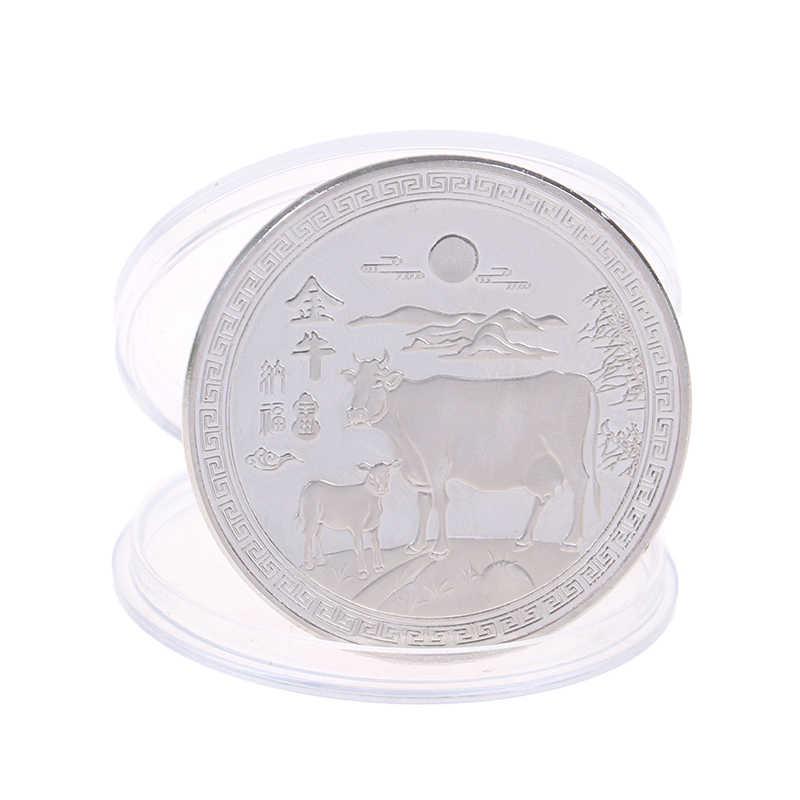1 Năm Mới 2021 Đồng Tiền Vàng 12 Cung Hoàng Đạo Bò Tiền Kim Loại Kỷ Niệm Cho Bộ Sưu Tập Quà Tặng
