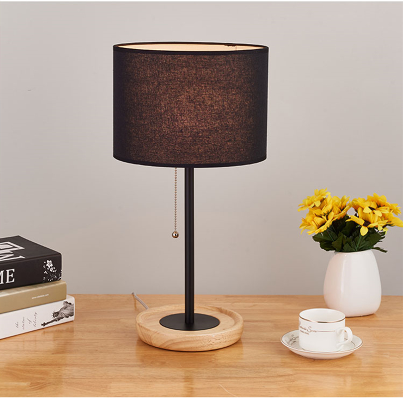 Table Light Fabric Shade Lamp