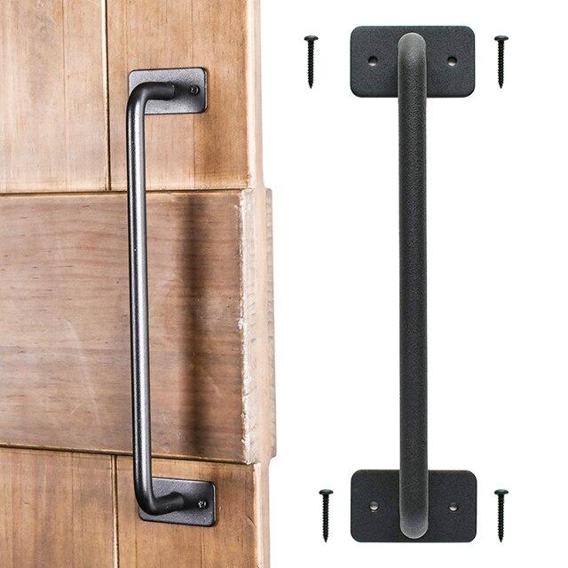 Furniture Knob Closets Hardware Home Barn Door Handle Hotel   Carbon Steel Heavy Duty For Cabinet  Garage Doors Handle