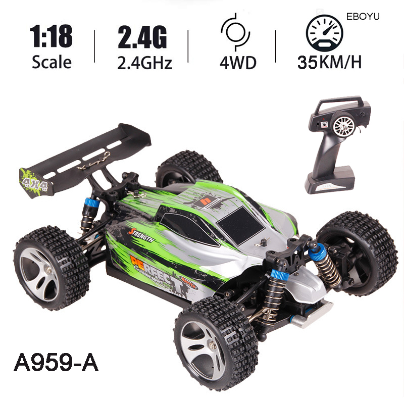 WLtoys A959A A959 A RC автомобиль 2,4 ГГц 1:18 Масштаб 4WD 35 км/ч высокий гоночный скоростной автомобиль дистанционное управление внедорожный автомобиль ...