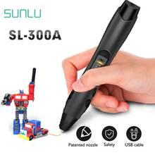 SUNLU 3D Pen SL-300A Support ABS/PLA/PCL Filament 1.75mm Children Drawing Printing Pens Temperature Adjustable Magic Pen цены онлайн