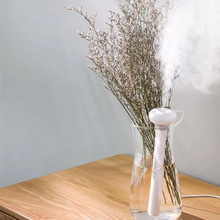 OTOKU USB Humidifier Portable Ultrasonic Mist Maker Aroma Diffuser Air Humidifiers White Dismountable Donut  for Home or Office
