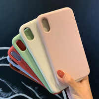 Funda de silicona para iPhone 7 8 Plus XR X XS Max 6 6s funda Original para iPhone11 11 Pro Max trasera con Logo funda Capa