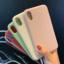 Silicone Case For iPhone 7 8 Plus XR X X