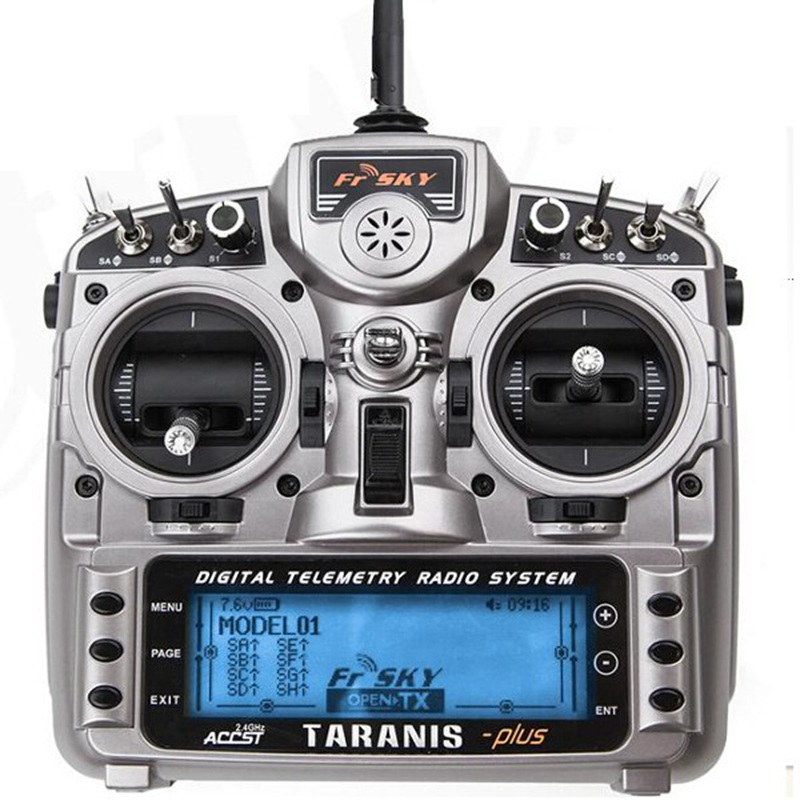 FrSky 2.4GHz 16Ch X9D PLUS Telemetry Transmitter with X8R Receiver for FPV Drone