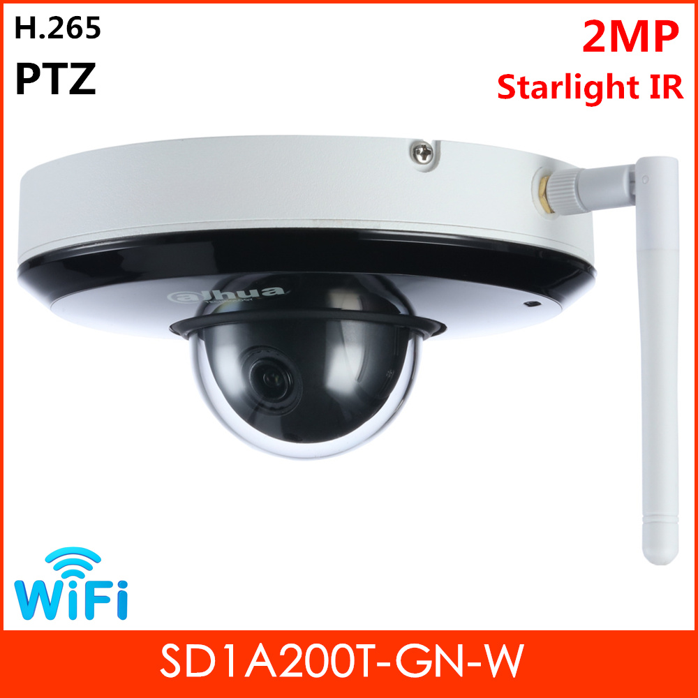<font><b>Dahua</b></font> Wifi PTZ <font><b>Camera</b></font> <font><b>2MP</b></font> Starlight IR Survillance Security <font><b>Camera</b></font> IR distance 15m Lens 3.6mm 2.8mm Optional SD1A200T-GN-W image