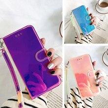 Portfel etui skórzane etui do Coque Samsung Galaxy S 20 S20 FE Lite Plus Ultra M51 M31 S A01 M01 rdzeń 3D lustro odwróć telefon okładka