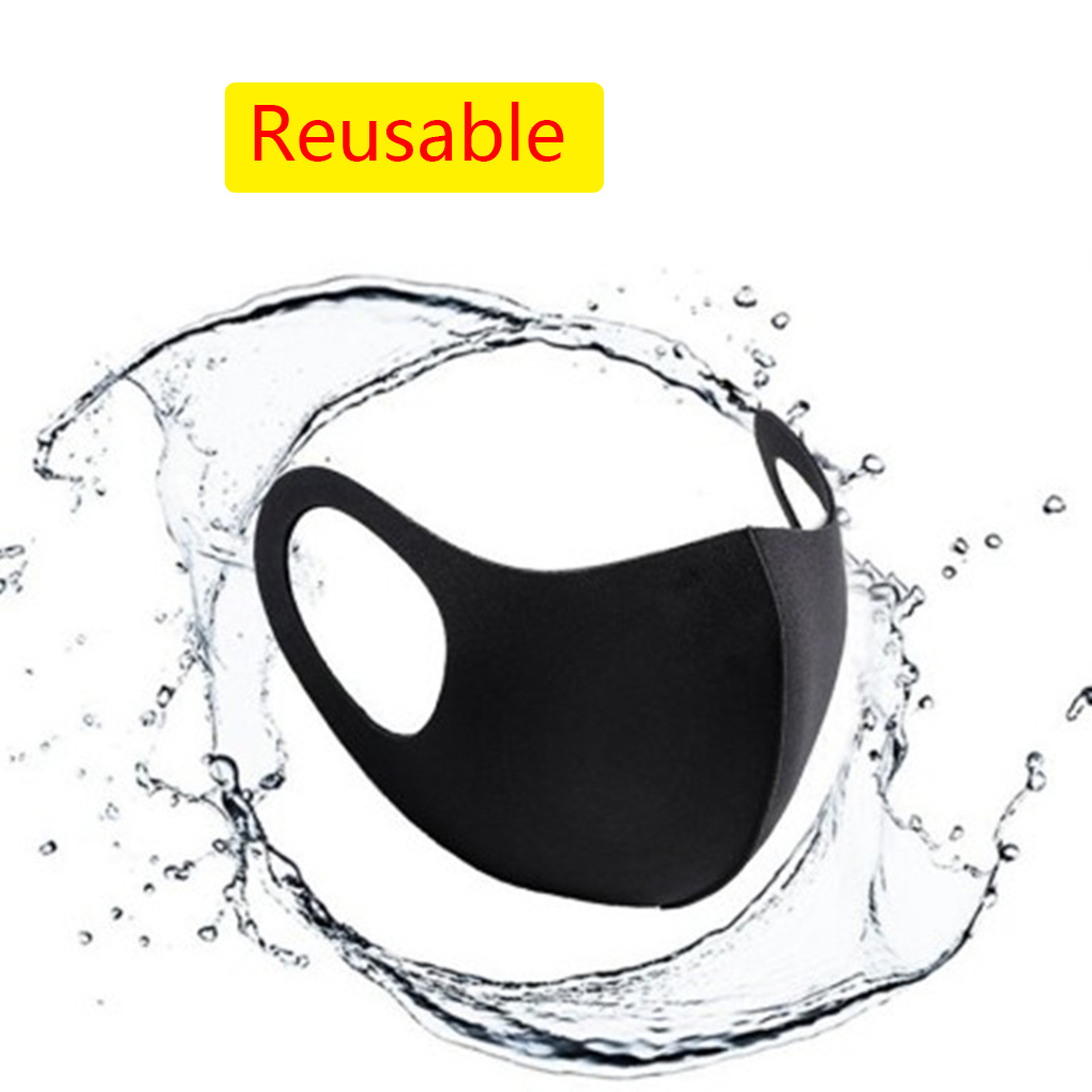 Men Women 3-layer Sponge Face Mask Anti-dust Anti-haze Reusable Breathable Unisex Mouth Mask Washable Windproof Mask Filter