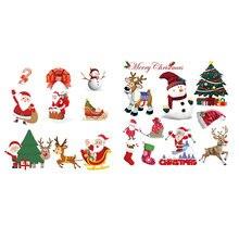 Заплатки со снеговиком Набор наклеек для детской одежды Дед