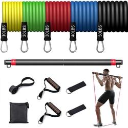Fitness Resistance Rubber Band Yoga Elastic Band Upgrade Training Bar Set Pilates Training Exercise Fitness Equipment Pull Rope