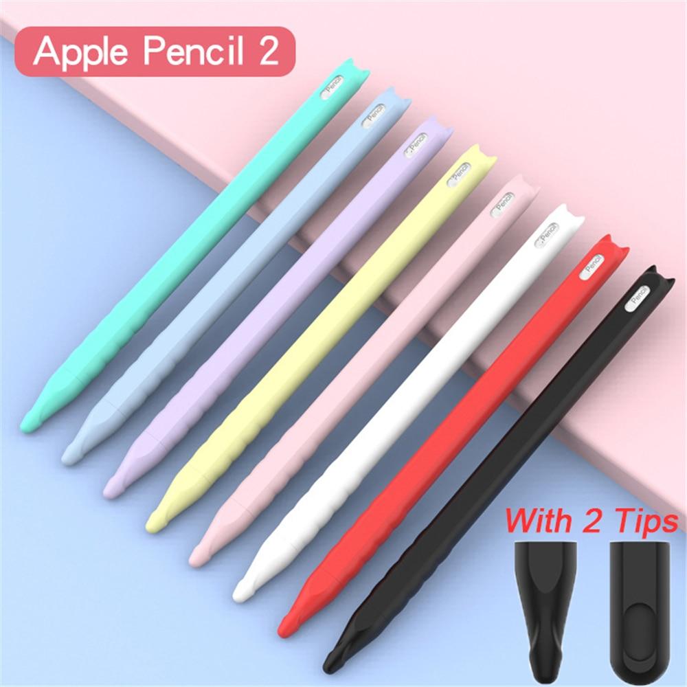 Strap Nib Cover Protective Skin Silicone Case For Apple Pencil iPad Pro