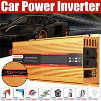 6000 Вт автомобильный инвертор 12/24 В в переменный ток 220/110 В преобразователь USB Модифицированная синусоида защита от перегрузки Высокая Конве...