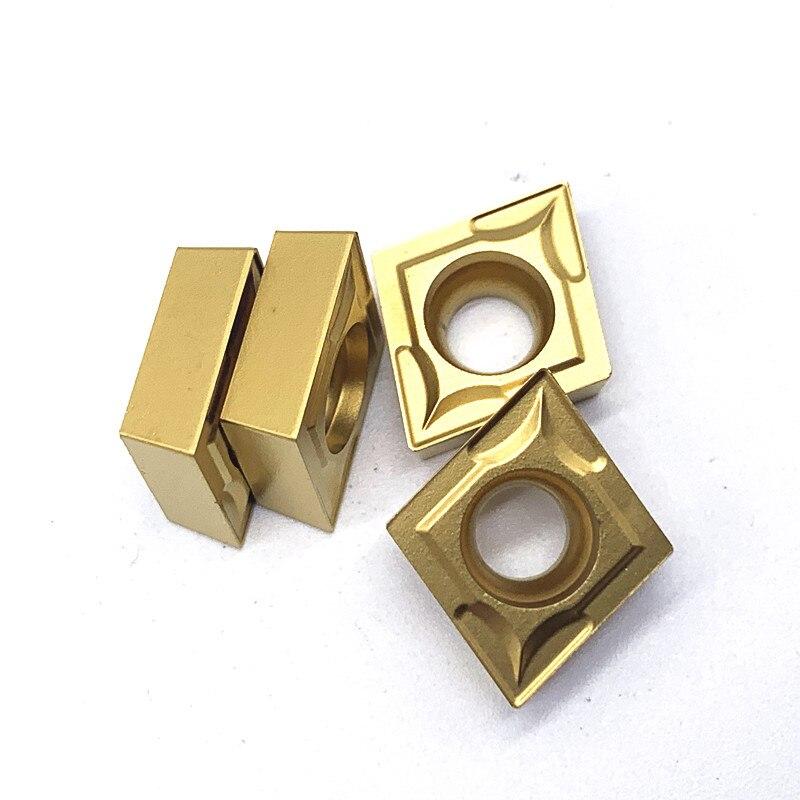 Купить с кэшбэком CCMT120404 VP15TF UE6020 US735 Carbide Inserts Cutter CNC Lathe Turning Tools For Metal Internal Turning Tool CCMT120404