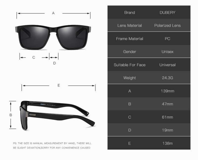 DUBERY поляризационные солнцезащитные очки, солнцезащитные очки для рыбалки, кемпинга, пеших прогулок, мужские солнцезащитные очки для мужчин, Ретро стиль, Дешевые Роскошные брендовые дизайнерские очки