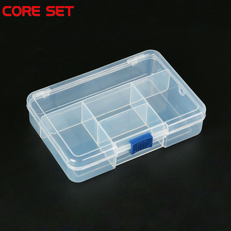 Electronic Tool Box Plastic Container Box For Tools Case SMD SMT Screw Sewing PP Transparent Pink Blue Component Storage Box