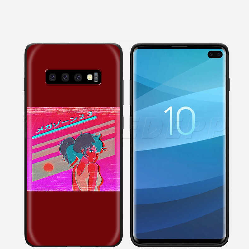 Webbedepp triste Anime Vaporwave estética caso para Samsung Galaxy S7 S8 S9 S10 Plus borde Nota 10 8 9 A10 A20 A30 A40 A50 A60 A70
