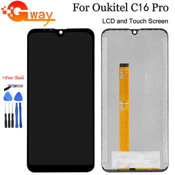 """5,71 """"para Oukitel C16 Pro pantalla LCD y digitalizador de pantalla táctil ensambly para C16 Pro teléfono piezas de reparación + herramientas + adhesivo"""