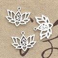20 stücke Charme Lotus Blume Yoga Om 21x17mm Antike Silber Farbe Anhänger DIYCrafts, Die Entdeckungen Handmade Tibetischen schmuck