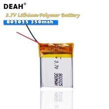 Lipo – batterie Lithium polymère Rechargeable, 3.7V, 802025 mah, pour vélo, feu arrière, appareil photo, DVD, GPS, jouet, audio, Bluetooth, 350mah