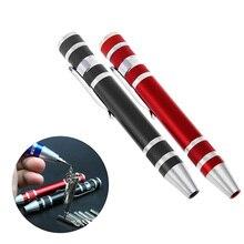 Portable 8 In 1 Precision Screwdriver Bit Set Pen Style Repair Tool Kit