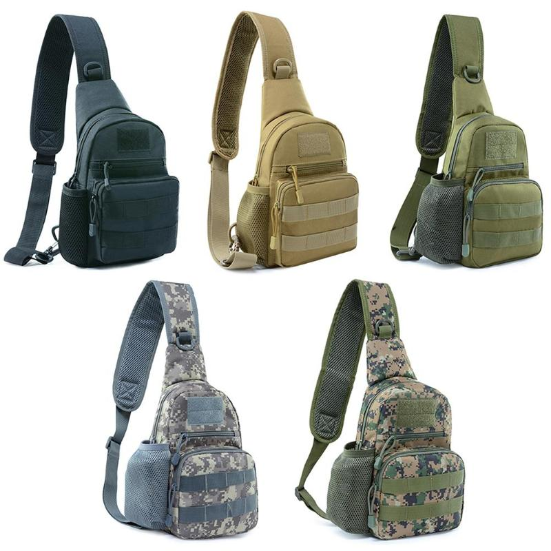 900D Oxford Cloth Riding Crossbody Bags Mesh Pouch Chest Packs Riding Shoulder Bag Outdoor Sport Bag For Running Climbing