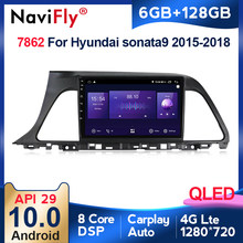 6G + 128G QLED tv 4G LTE CarPlay z systemem Android 10 samochodów Radio odtwarzacz multimedialny dla Hyundai Sonata 7 LF 9 2014-2017 nawigacja GPS Stereo DVD