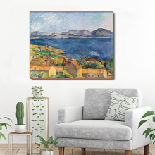 Cassisy Canvas Oil Painting《The Bay of Marseilles》Paul Cezanne Poster Picture Wall Decor Modern Home Decoration For Living room cezanne