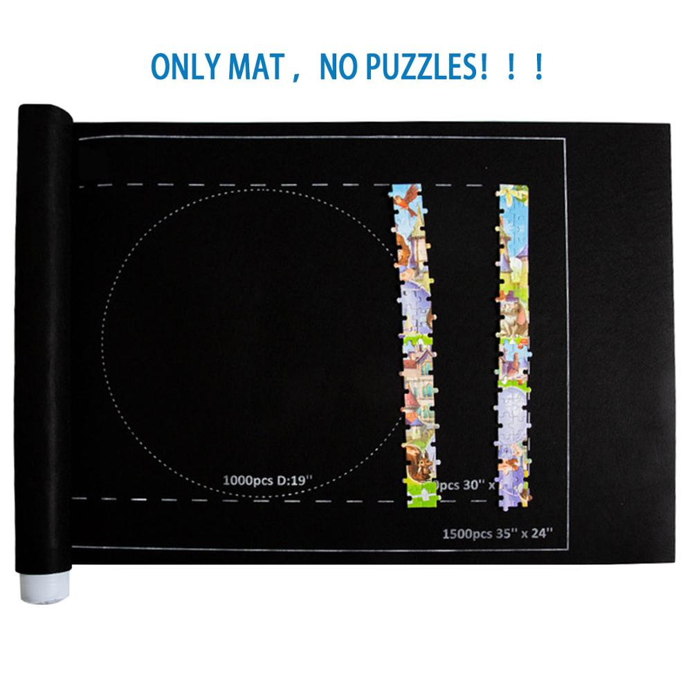 Besegad Puzzles Mat Jigsaw Roll Felt Mat Play Mat Large For Up To 1500 Pieces Puzzle Accessories Portable Travel Storage Bag