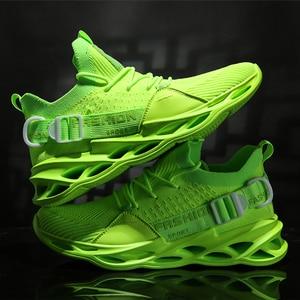Мужские кроссовки с лезвием, легкие, свободные, для бега, для мужчин, для бега, для прогулок, спортивная обувь, высокое качество, на шнуровке, ...
