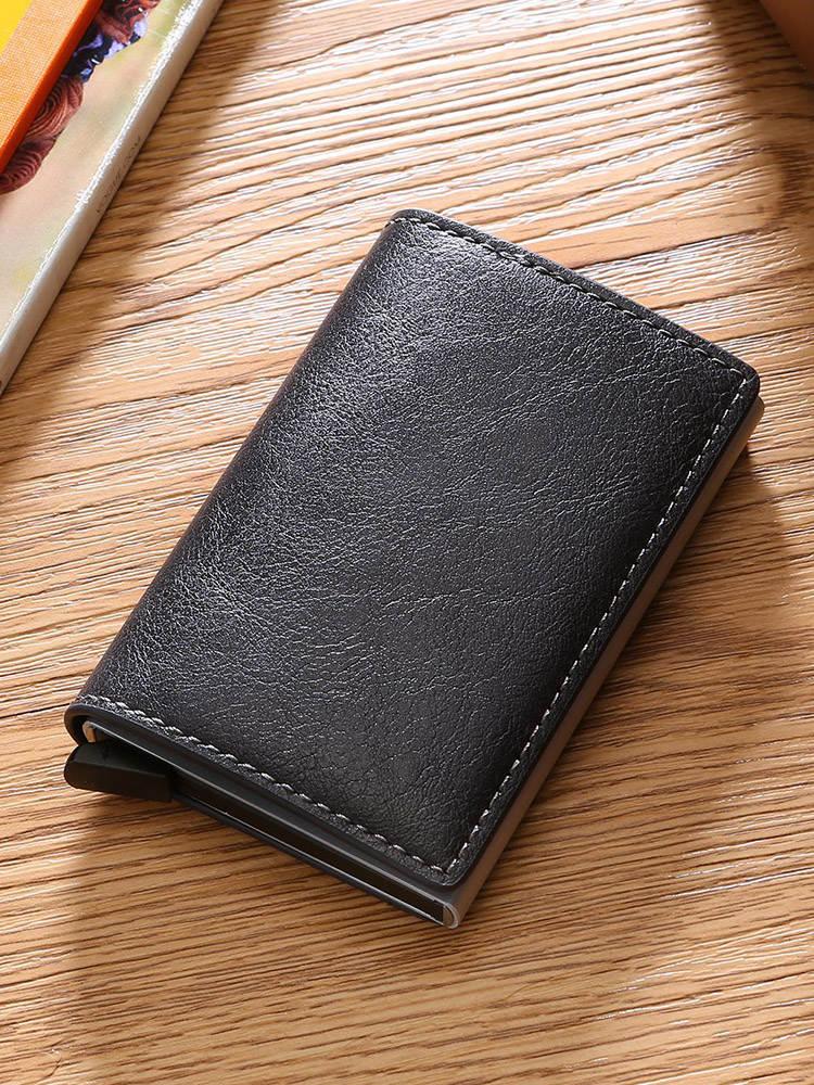 DIENQI Rfid держатель для карт мужские кошельки сумка для денег Мужской винтажный черный короткий кошелек 2020 маленькие кожаные тонкие Кошельки ...