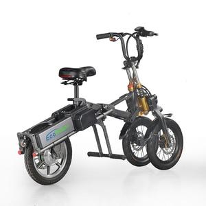 Image 1 - E6 7 2019 nuevo diseño Scooter Eléctrico tres ruedas 36V 250W bicicleta eléctrica plegable, triciclos eléctricos