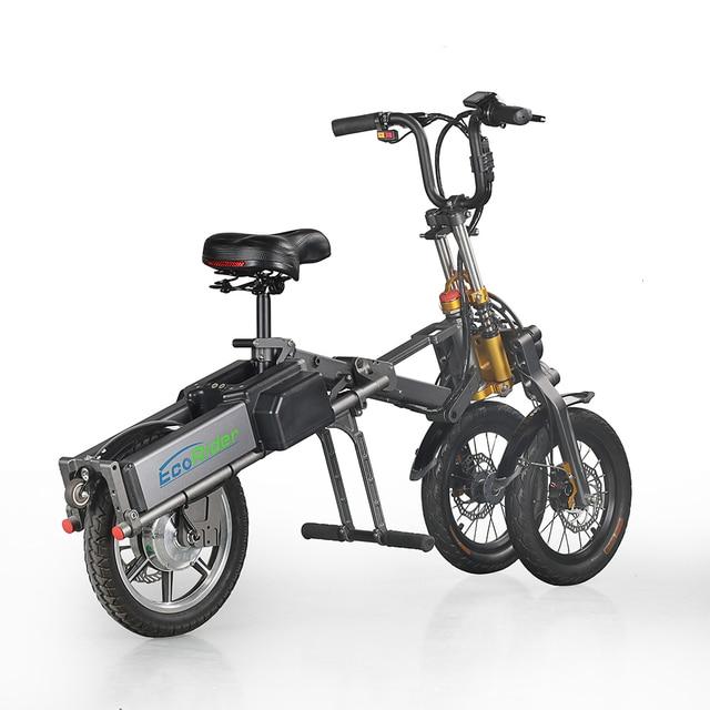 E6 7 2019 nuevo diseño Scooter Eléctrico tres ruedas 36V 250W bicicleta eléctrica plegable, triciclos eléctricos