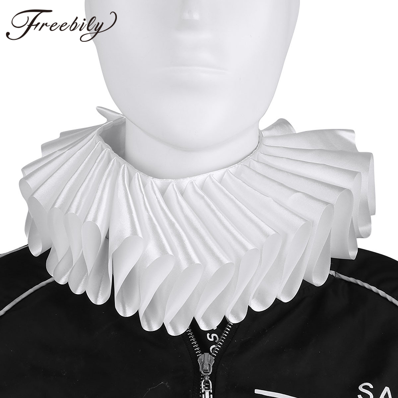 New Fashion Victorian Gothic Style Unisex Women Men Neck Ruff Ruffled Collar False Collar Halloween Cosplay Neckwear Decoration