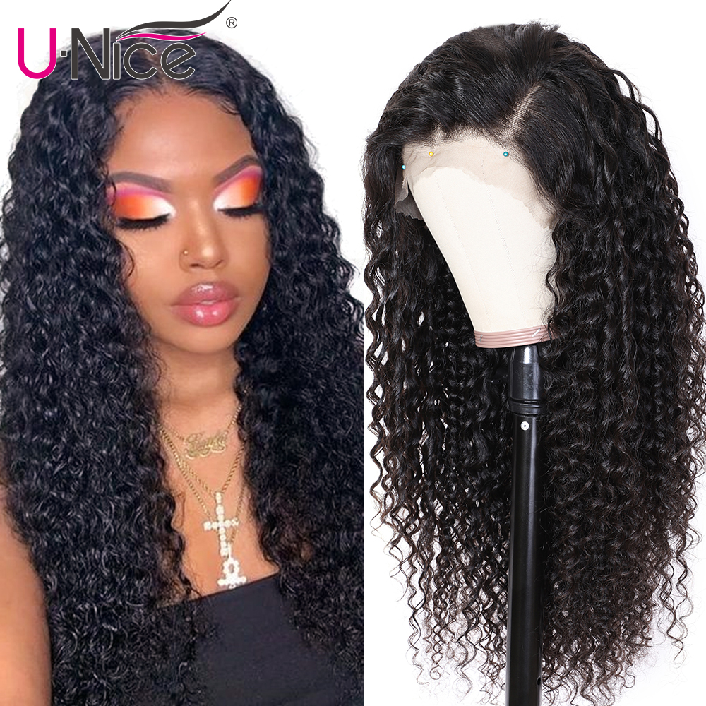 Unice Hair 13x4/6 Deep Part Curly Human Hair Wig With Baby Hair 10-24