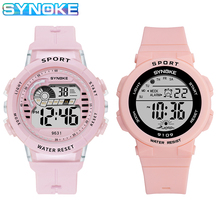 1 пара часы для девочек мальчиков SYNOKE бренд 50 м водонепроницаемый спорт часы детские цифровые наручные часы электронные часы Reloj Montre