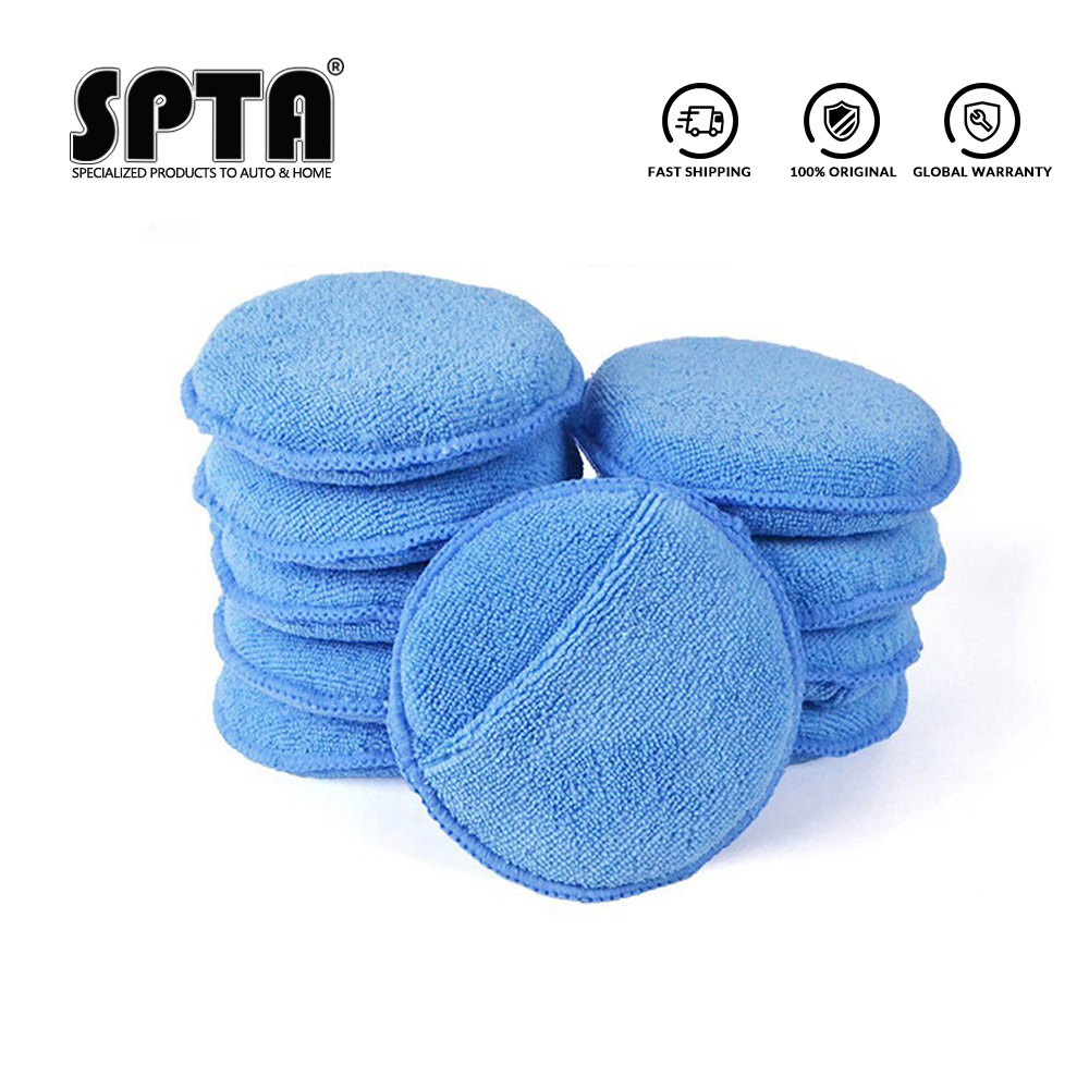 SPTA Ultra Soft Microfiber Car Wax Applicator Pad  5
