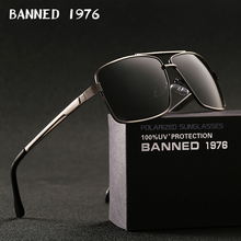BANNED 1976  Brand Designer Rectangle Rectangle Sunglass Men