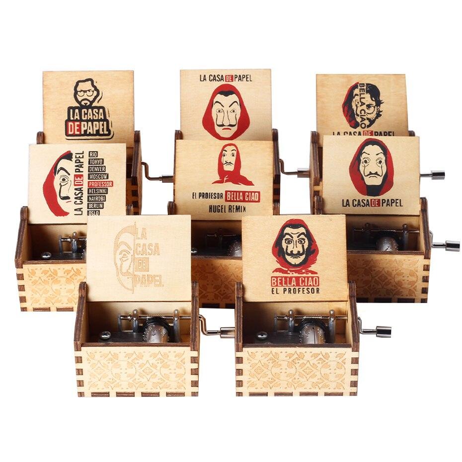 Музыкальная шкатулка La Casa De Papel bella Hello бумажная шкатулка для бумажного дома музыкальная шкатулка для рождественского подарка Мужская музык...