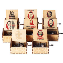 Casa de papel bella ciao caixa de música dinheiro assalto casa de papel musical manivela para presente de natal masculino caixa de música grande estoque