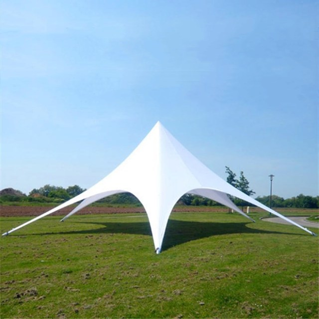14m diameter Star Shape PVC and Aluminum Tent Trade Show Single Top for Wedding Outdoor Promotion Advertisement Party Gathering