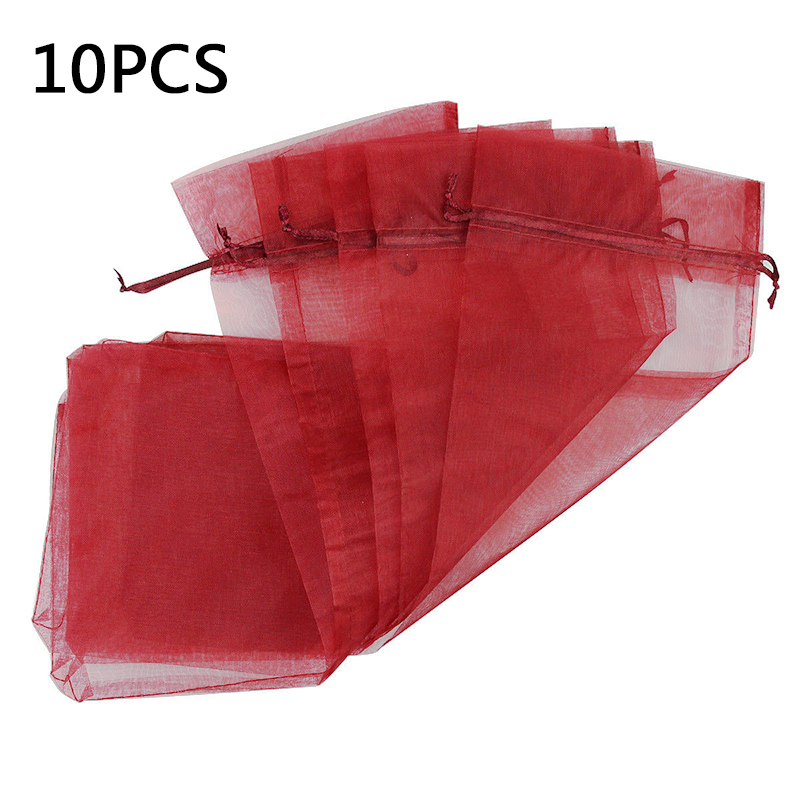 10pcs Drawstring Bags Gift Favor Present Display Placing Gourmet Condiments Candles Wine Bottles Pouches image