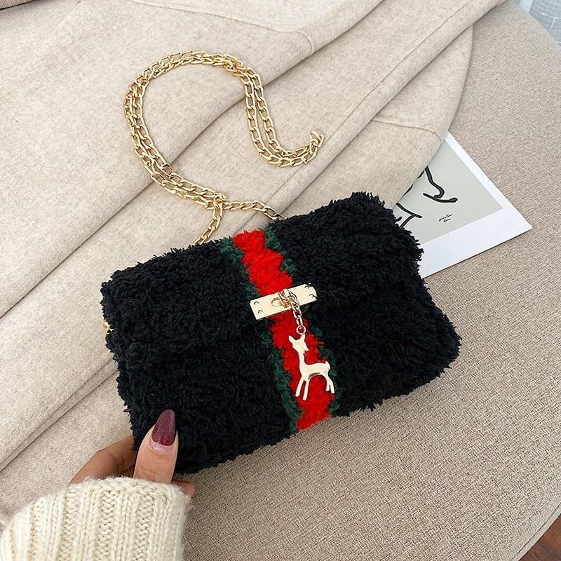 Luxury Women Crossbody Bags Fashion Plush Purses And Handbags Female Phone Shoulder Bag Girls Wallet Louis Brand