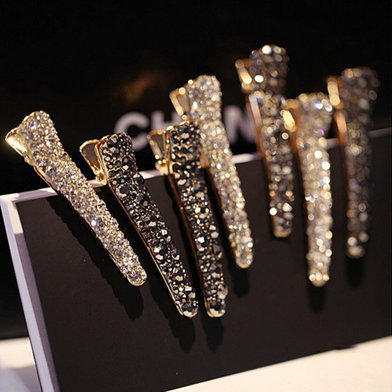 Fashion Bling Crystal Hairpins Hair Clip Headwear for Women Girls Rhinestone Hairpins Barrette Styling Tools Hair Accessories|Hair Clips & Pins| - AliExpress