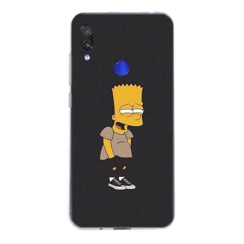 Cartoon Homer J.Simpsons Silicone Case For Xiaomi Redmi Note 9 8 7 6 5 Plus 4 4X Pro 8A 7A S2 6A 5A K30 K20 TPU Back Cover